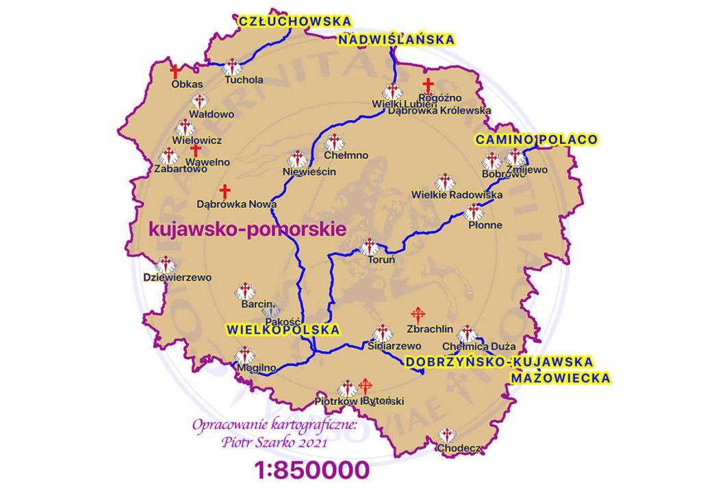 drogi jakubowe - kujawsko pomorskie