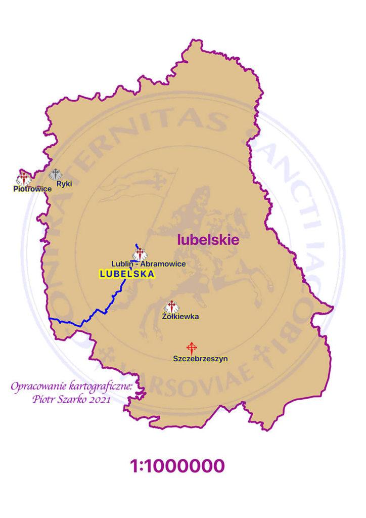 drogi jakubowe -  lubelskie