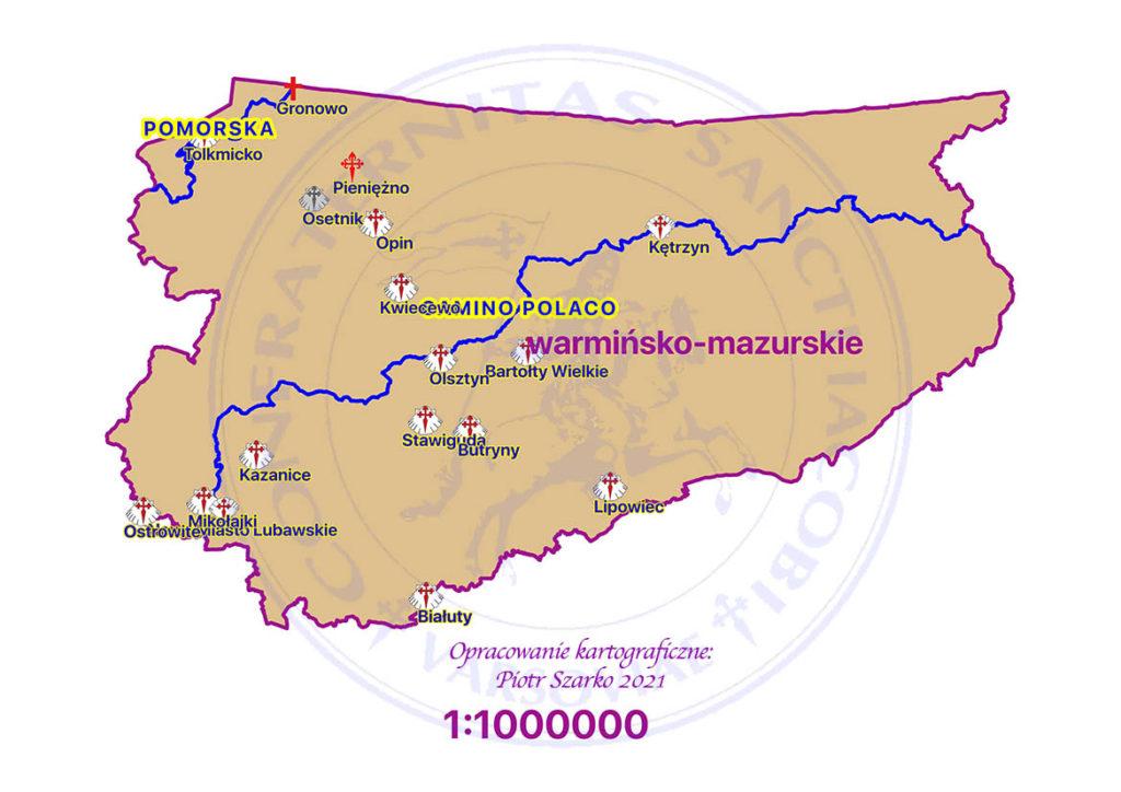 drogi jakubowe - warmińsko mazurskie