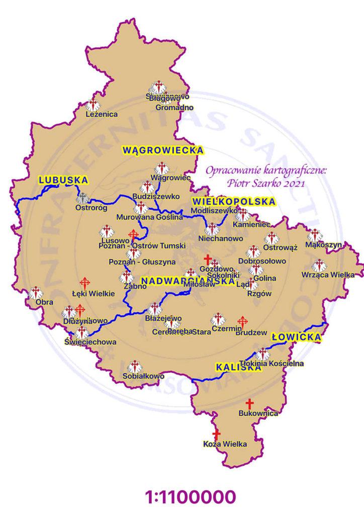 drogi jakubowe -  wielkopolskie